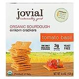 Jovial Sourdough Einkorn Crackers - Tomato Basil - Case of 10 - 4.5 oz.