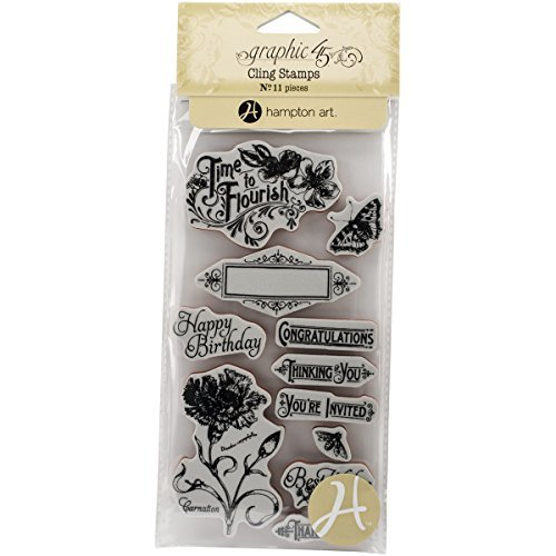 Graphic 45 Cling Stamp, Time to Flourish 1 by Graphic 45