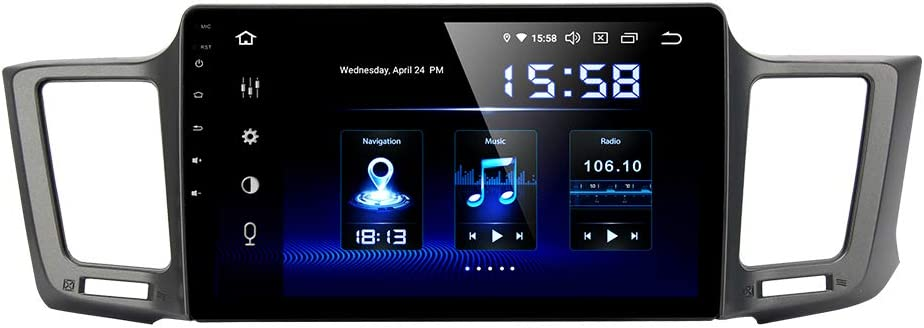 RAV4 Android 8.1 1+16G Car Radio GPS Navi Android 8.1 IPS for Toyota RAV4 2014-2017 In Dash Multimedia Video Head Unit with Bluetooth WiFi 4G BT USB Stereo Touch Navigation