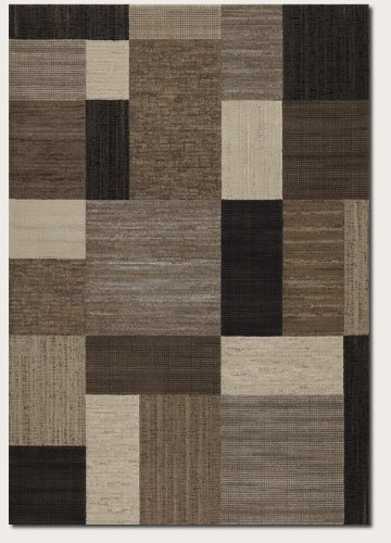 Couristan 6303/4343 Everest Geometrics/Brown-Multi 2-Feet 7-Inch by 7-Feet 10-Inch Runner Rug