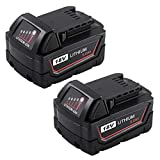 5.0Ah Replace for Milwaukee M18 18V Battery XC 48-11-1850 48-11-1828 48-11-1820 48-11-1852 48-11-1890 Cordless Power Tool Batteries Pack of 2 -  Enermall
