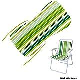 Almofada Cadeira Plastico Praia Piscina Mor Verde