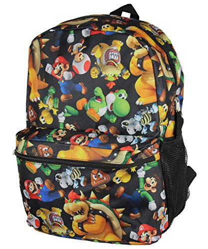 Super Mario Bros. Backpack All Over Character Print