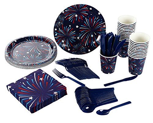 Fireworks Party Supplies - Serves 24 - Includes