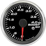 Speedhut GR26-BS04M Boost Gauge 0-4bar Metric (With Warning LED), 2-5/8''