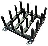 New Heavy Duty Digital Media/Vinyl Cart Mobile Rack,16-Roll capacity, 2'' core