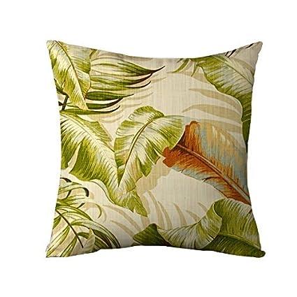 Amazon Banana Leave Pillow Cover Tropical Throw Pillows For Enchanting Tropical Throw Pillow Covers