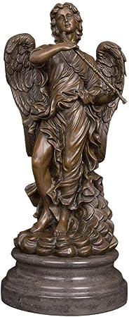 GHFT Estatuas Estatuas para jardín Athena Angel Escultura Bronce Estatua de Bronce Figura decoración del hogar Interior: Amazon.es: Hogar