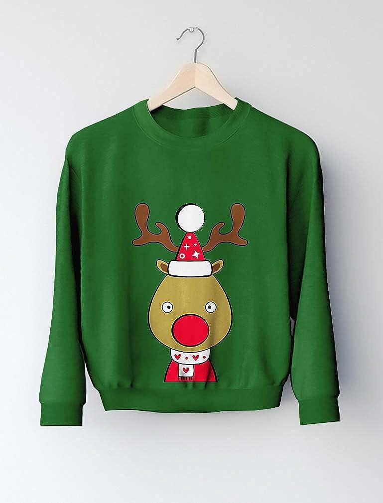 Tstars Cute Reindeer Outfit for Christmas Toddler//Kids Sweatshirt
