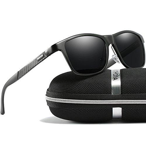 KITHDIA Mens Driving Polarized Wayfarer Sunglasses Al-Mg Metal Frame Ultra Light #407