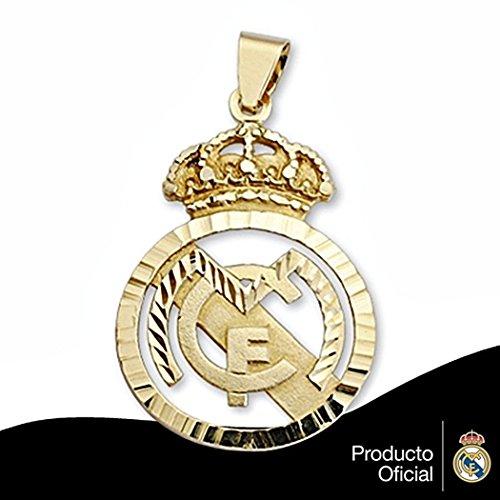 Real Madrid pendentif bouclier sterling 38x25 or 18k sculpté [6458] - Modèle: 30-164
