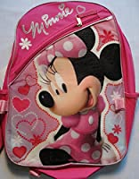 """Disney Minnie Mouse Pink 16"""" Backpack with Lunch Bag"""