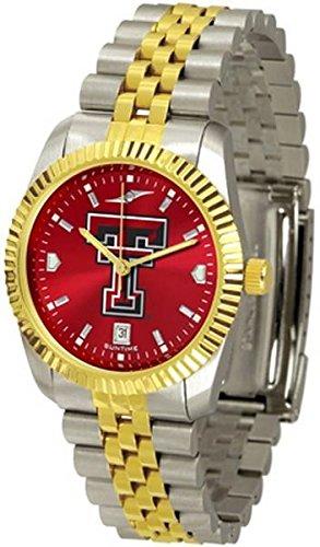 Squeak Me Shoes Texas Tech University Men's Stainless Steel Two Tone Logo - Executive Mens Watch Raiders