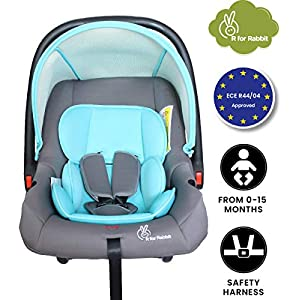 R for Rabbit Picaboo 4 in 1 Multi Purpose Baby Carry Cot,Car Seat, Rocker,Feeding Chair for Infant Babies of 0 to 15…