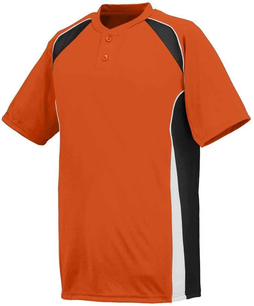 Augusta Sportswear Boys 'ベースHit Baseball Jersey B00IUKW38E Medium|オレンジ/ブラック/ホワイト オレンジ/ブラック/ホワイト Medium