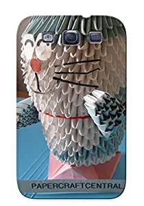 New Shockproof Protection Case Cover For Galaxy S3/ 3d Origami Doraemon Modular Paper Folding Origami And Papercraft Case Cover
