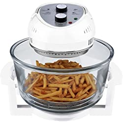 Big Boss Oil-less Air Fryer, 16 Quart, 1300 watt, White