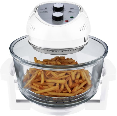 Big Boss 9064 Oil-Less, 16 Quart, 1300W, Easy Operation with Built in Timer Air Fryer, M, White