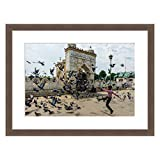 eFrame Fine Art | Pigeon Play Kashmir State India by Blaine Harrington 16'' x 24'' Framed and Unframed Wall Art for Wall Decor or Home Decor (Black, Brown, White Frame or No Frame)