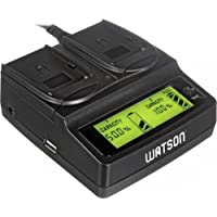Watson Duo LCD Charger with 2 NP-W126 Battery Plates - For Fujifilm NP-W126 Type Battery