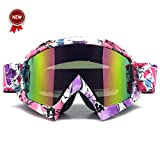 Bendable Windproof Eyewear Protective Glasses Ski Goggles, Zdatt Snow Skiing Snowboarding Motocross Anti-Fog Goggles Dustproof Scratch-Resistant Bendable Unisex Goggles