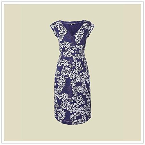 069c67d6e8 Ex White Stuff Ladies Lena Blue Floral 1940's Tea Summer Dress Sun Women ...