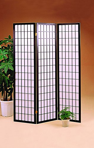 3-Panel Folding Screen Black and White -