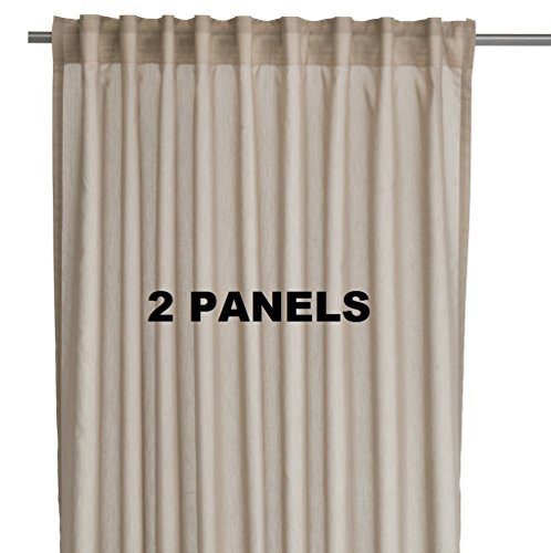 Ikea VIVAN Pair of Curtains, Drapes, 2 panels Beige Color