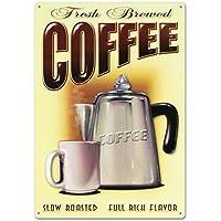 Fresh Brewed Coffee Tin Sign 12 x 17in