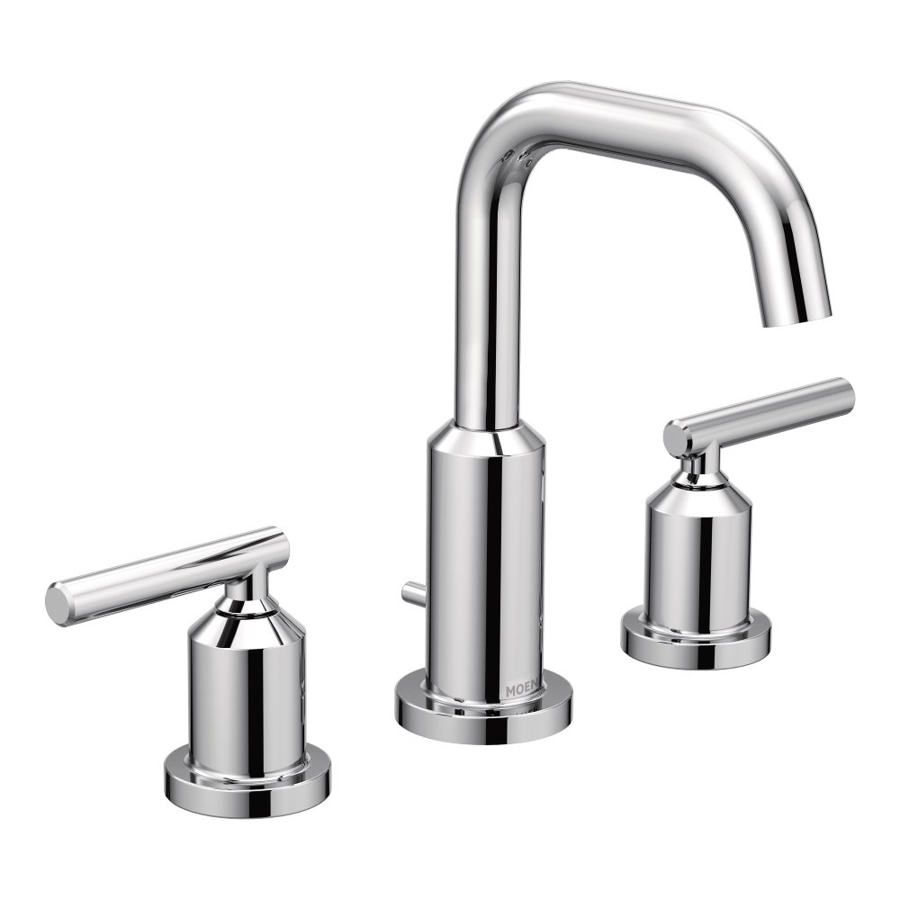 Moen T6142 Gibson Two-Handle Widespread High Arc Chrome Bathroom Faucet
