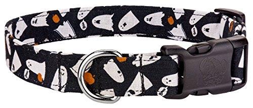 Country Brook Design Halloween Happy Ghosts Designer Dog Collar-Large