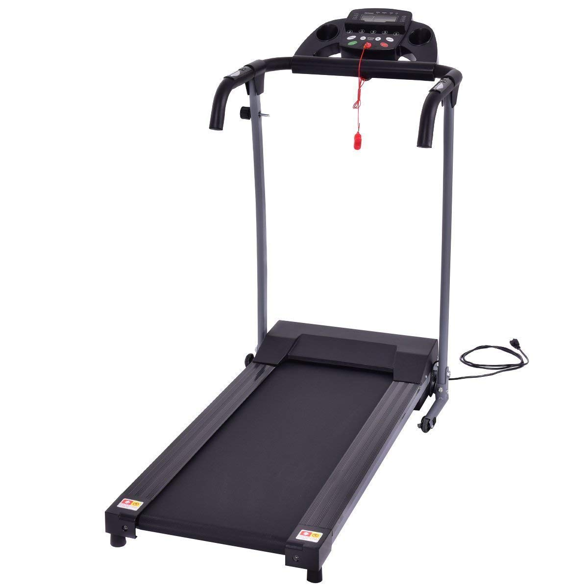 GYMAX Folding Exercise Treadmill Fitness Electric Treadmill Electric Motorized Power Fitness Running Machine 800W W/IPAD Mobile Phone Holder (Black) by GYMAX (Image #7)