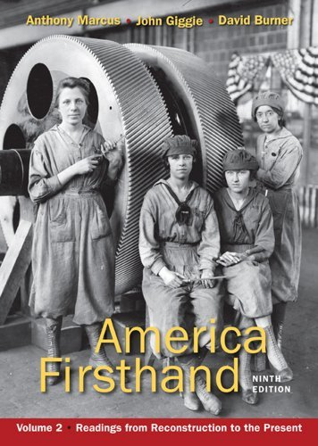 By Anthony Marcus - America Firsthand, Volume Two: Readings from Reconstruction to th (Ninth Edition) (2011-12-20) [Paperback] (America Firsthand Vol 2 compare prices)