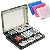 Luniquz 26 in 1 DS Game Holder Game Card Carry Case for Nintendo DS, DS Lite, 3DS, New 3DS, Dsi, Dsi XL/Black