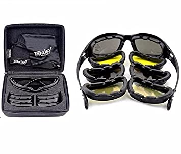 05bbb96c4d OBAOLAY C5 Goggles Army Tactical eyewear 4 Lens set SunGlasses cycling  UV400  Amazon.co.uk  Sports   Outdoors