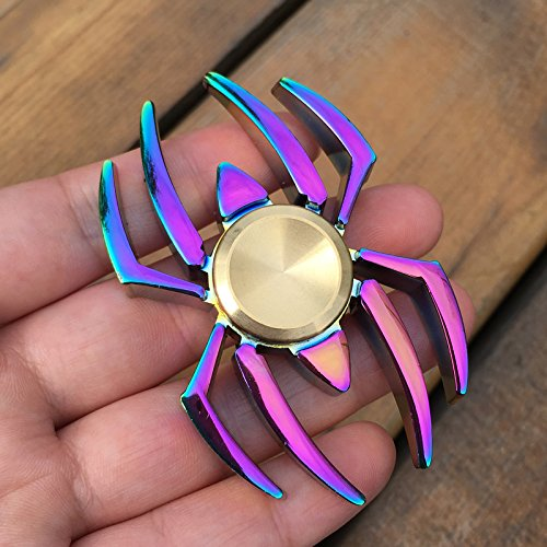 Stingna New Colorful Spider Edc Fidget Spinner Metal Finger Spinner Hand Spinner For Adhd Relieve Anxiety Desk Toys Kids Gift 29
