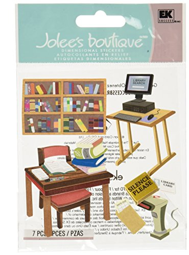 Jolee's Boutique Themed Ornate Stickers, Library
