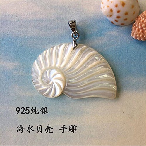 - 925 sterling silver hand-carved natural sea shells and conch necklace pendant pendant accessories men and women girls couple ocean winds
