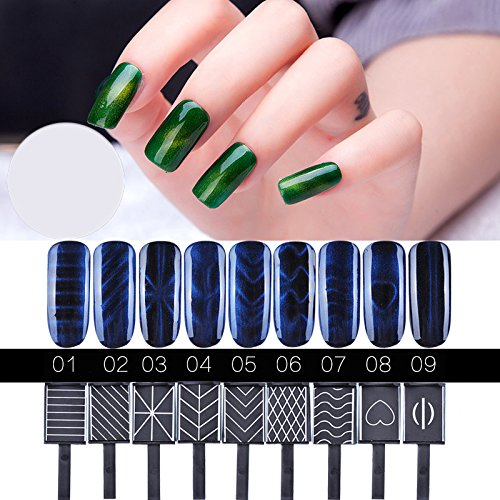 Set Manicure Personalized Precision (JACA Magnet Plate Wand Board Nail Art Tool for DIY Magic 3d Magnetic Polish Cats Eyes Choose 9pcs/set)