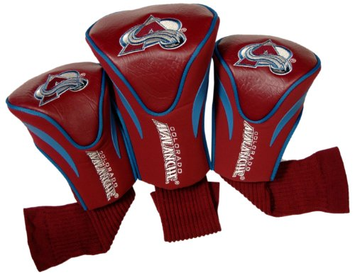 Team Golf NHL Colorado Avalanche Contour Golf Club Headcovers (3 Count), Numbered 1, 3, & X, Fits Oversized Drivers, Utility, Rescue & Fairway Clubs, Velour lined for Extra Club Protection ()