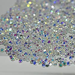 1440Pcs Mini Diamond Shining DIY Rhinestones Iridescent Crystals Need Glue Phone & Nail Art Decoration (AB Clear)