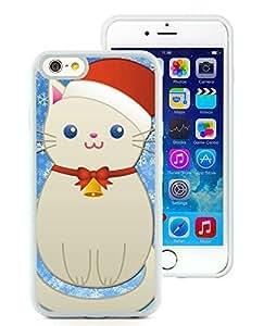 Popular Sell Design Case Cover For Apple Iphone 5C Christmas SnoCat White Hard Case 1
