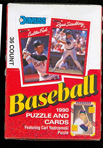 1990 Donruss Baseball Card Set Wax Pack Box Sammy Sosa Rookie