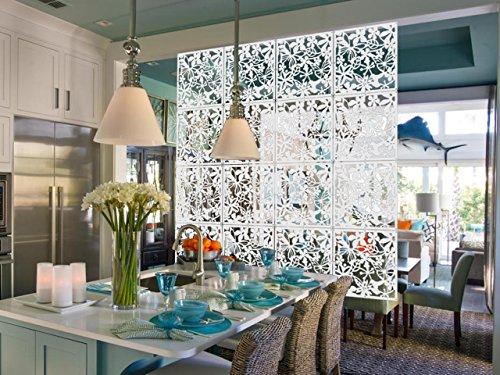 kernorv diy hanging room divider made environmentally pvc 12 pcs partitions panels screen. Black Bedroom Furniture Sets. Home Design Ideas