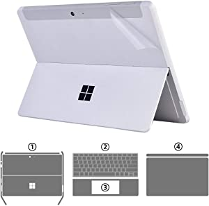 xisiciao Protective Skin Sticker Decals for Surface Go 2(Microsoft 2020 Released) 10.5 Inch Tablet, 4-in-1 Premium Full Set Anti Scratch Vinyl Laptop Cover Skin (Semi-matt Crysta 4-in-1)
