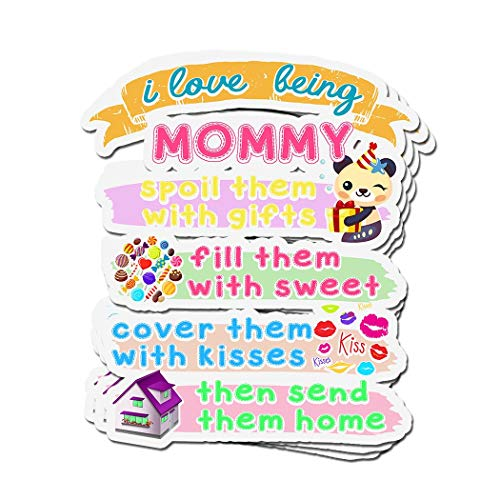 ViralTee 3 PCs Stickers I Love Being Mommy Funny Gift for Grandma 4 × 3 Inch Die-Cut Decals