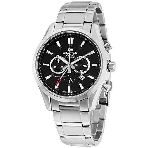 Casio Edifice Black Dial Stainless Steel Men's Watch EFB504JD-1A
