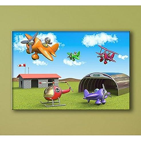 Bild Flugzeuge – Deco Soon - 100 x 150 cm