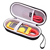 LTGEM Hard Case for Fluke 323/324/325 True-RMS Clamp Meter, Mesh Pocket for Accessories