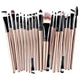 #8: Clearance Deals Makeup Brush Set,ZYooh 2018 Professional Fashion 20pcs Make up Brushes Kits Cosmetic tools Kit Valentine Gift (F)